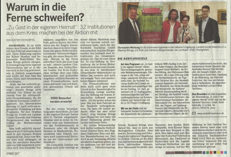Zu Gast in der eigenen Heimat Kölnische Rundschau